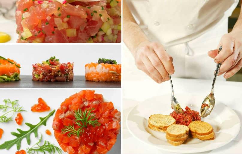tartar de atún y tartar de salmón