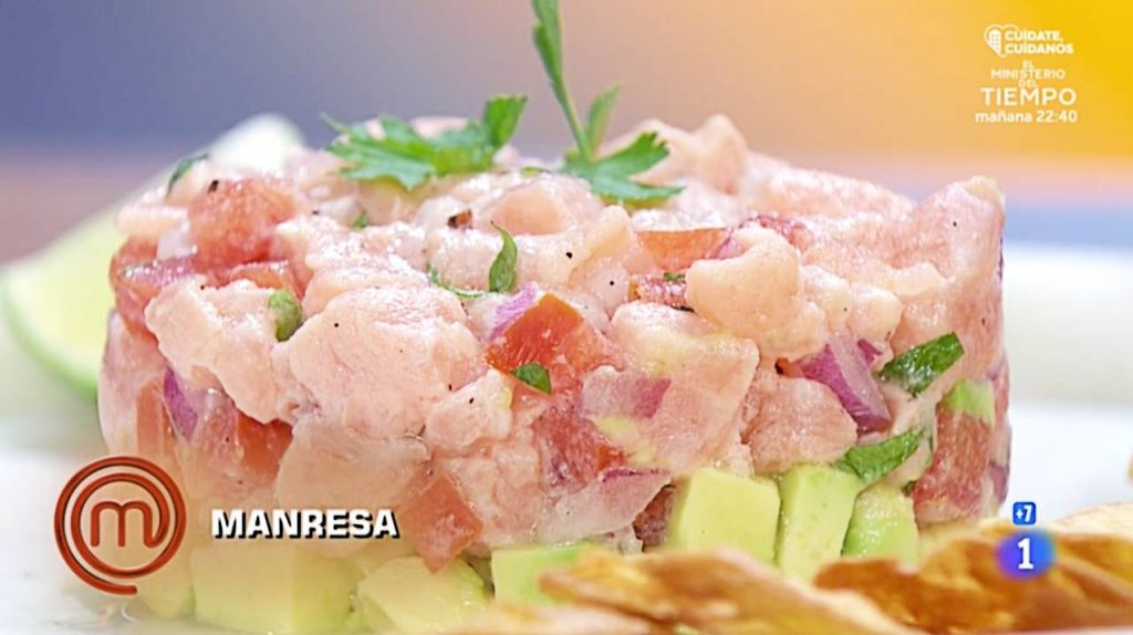 tartar de salmón de Juana Masterchef