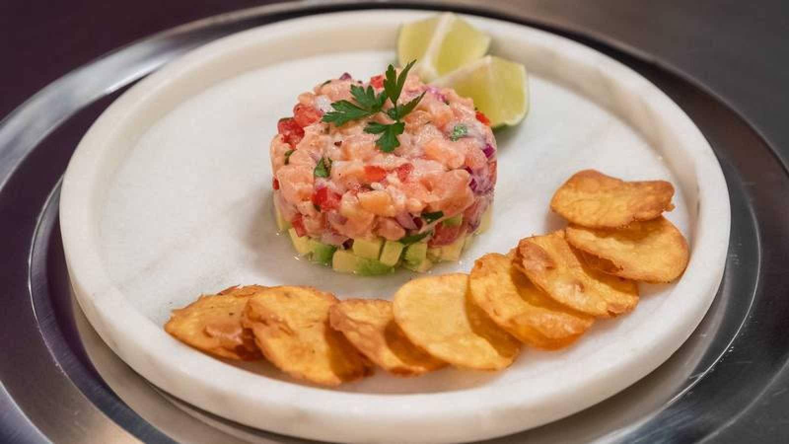 """tartar de salmón """"Manresa"""" de Juana Masterchef 8"""