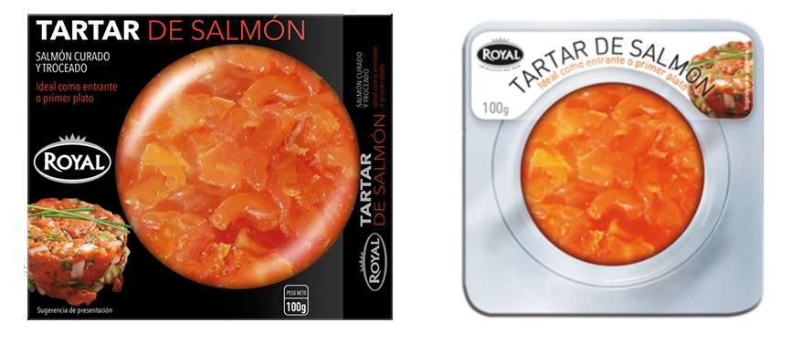 tartar enlatado de salmón